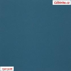 Koženka SOFT 242 - Petrolej, šíře 140 cm, 10 cm