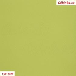Koženka, jasně zelená, SOFT 33, šíře 140 cm, 10 cm