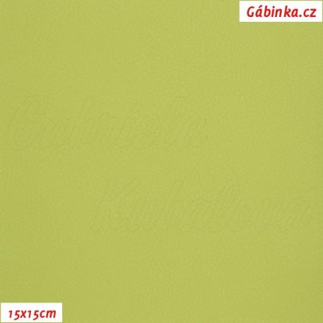 Koženka, jasně zelená, SOFT 33, 15x15cm