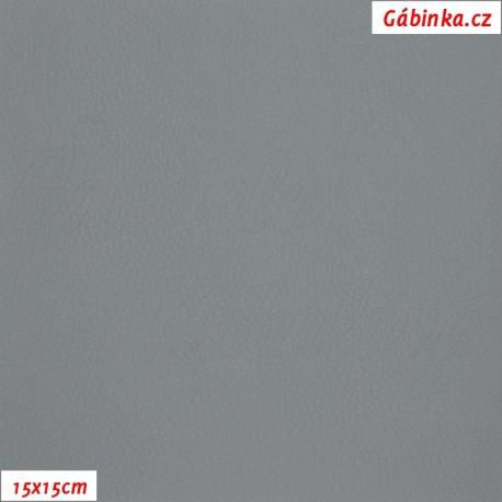 Koženka, šedá, SOFT 44, 15x15cm