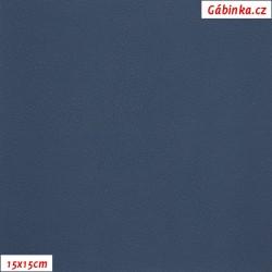 Koženka, tm. modrá, SOFT 23, šíře 140 cm, 10 cm