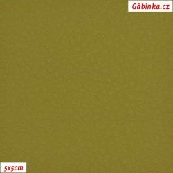 Koženka, žlutozelená, SOFT 22L, šíře 140 cm, 10 cm