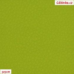 Koženka, jasně zelená, SOFT 33L, šíře 140 cm, 10 cm