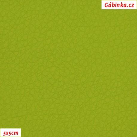 Koženka, jasně zelená, SOFT 33L, 5x5cm