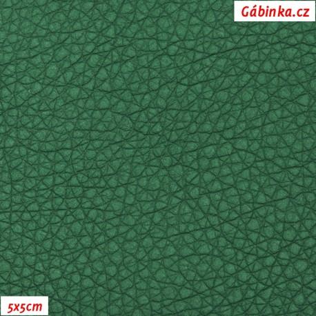 Koženka, tm. zelená SOFT LESK 111, 5x5cm