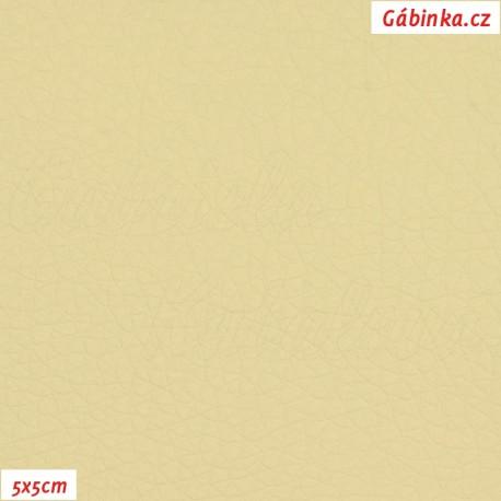 Koženka, smetanová, SOFT 04, 5x5 cm