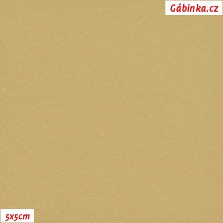 Koženka, béžová, SOFT 05, 5x5cm