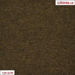 Kočárkovina LEN MAT, Hnědá 25 D, šíře 160 cm, 10 cm