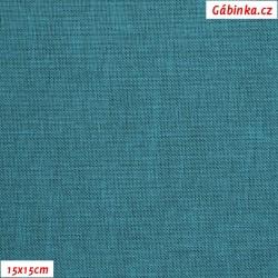 Kočárkovina LENA 87 - tyrkys s černým žíháním 87 BL, 15x15cm