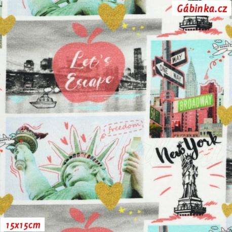 Úplet s EL Digitální tisk - New York v obrázcích, 15x15 cm
