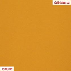 Úplet JEANS - hořčicový, 15x15 cm