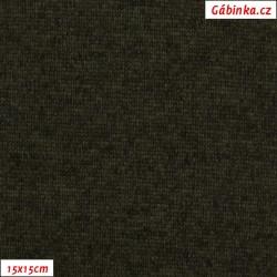 Svetrovina - khaki melír, šíře 155 cm, 10 cm