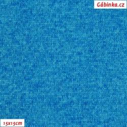 Svetrovina - tyrkysový melír, 15x15 cm