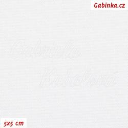 Náplet hladký 1:1, bílý, šíře 150 cm, 10 cm, ATEST 1