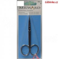 Profesionální nůžky na vyšívání - Milward, 10 cm, 1 ks