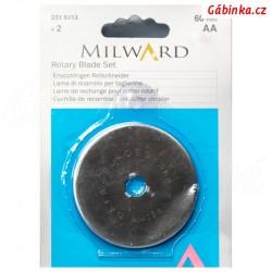 Náhradní čepel na řezací kolečko na patchwork MILWARD - 60 mm, sada 2 ks
