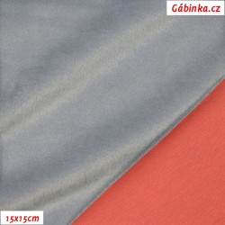 Warmkeeper - Lososový-světle šedý - 2420/771, šíře 150-155 cm, 10 cm