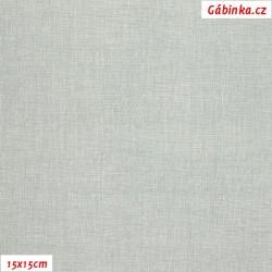Plátno - Lněná půda světle šedá, Atest 1, šíře 150 cm, 10 cm