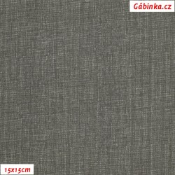 Plátno - Lněná půda tmavě šedá, Atest 1, šíře 150 cm, 10 cm