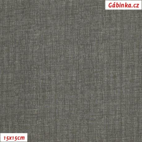 Plátno - Lněná půda tmavě šedá, Atest 1, 15x15 cm