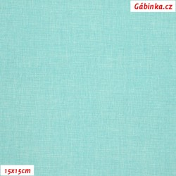 Plátno - Lněná půda mentolová, šíře 150 cm, 10 cm, ATEST 1