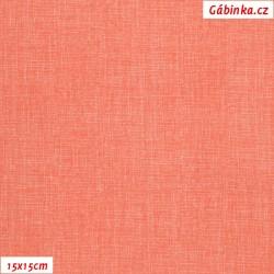 Plátno - Lněná půda lososová, Atest 1, 15x15 cm