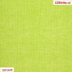 Plátno - Lněná půda jarní zelená, Atest 1, šíře 150 cm, 10 cm