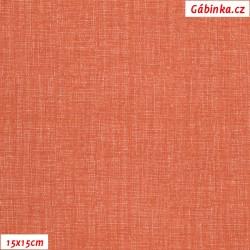 Plátno - Lněná půda cihlová, Atest 1, šíře 150 cm, 10 cm