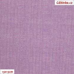 Plátno - Lněná půda světle fialová, Atest 1, 15x15 cm