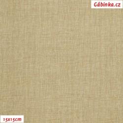 Plátno - Lněná půda béžová, Atest 1, šíře 150 cm, 10 cm, 2. jakost