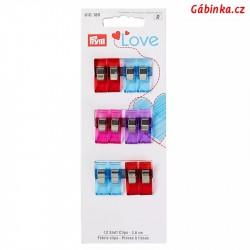Svorky na textil 2,6 cm PRYM LOVE 610 180 - 12 ks na kartě