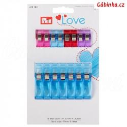 Svorky na textil 2,6 + 5,5 cm PRYM LOVE 610 182 - 15 ks na kartě