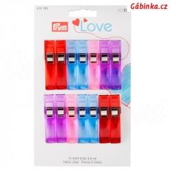 Svorky na textil 5,5 cm PRYM LOVE 610 183 - 14 ks na kartě