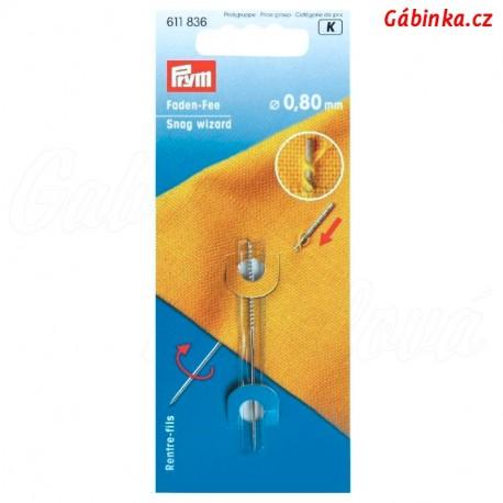 Jehla pro zatažení nitě PRYM 611 836, průměr 0,80 mm, délka 60 mm - 1 ks v balení