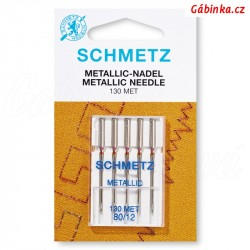 Jehly Schmetz - METALLIC 130 MET, 80/12, 5 ks