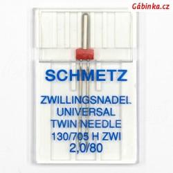 Jehla Schmetz - UNIVERSAL TWIN 130/705 H ZWI, 2,0/80, 1 ks