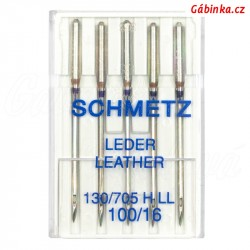 Jehly Schmetz - LEATHER 130/705 H LL, 100/16, 5 ks