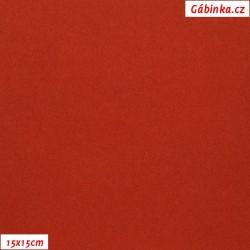 Flauš s kašmírem - Cihlový, 15x15 cm