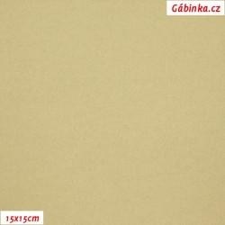 Flauš s kašmírem - Béžový, 15x15 cm