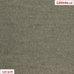 Flauš s elastanem - Světle šedý, 15x15 cm