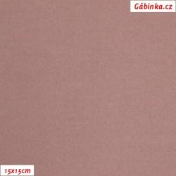 Flauš s elastanem - Starorůžový, šíře 150 cm, 10 cm