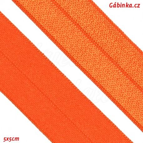 Guma lemovací půlená, 19 mm, sytě oranžová, 5x5 cm