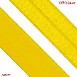 Lemovací guma půlená 21 - žlutá, šíře 19 mm, 1 m