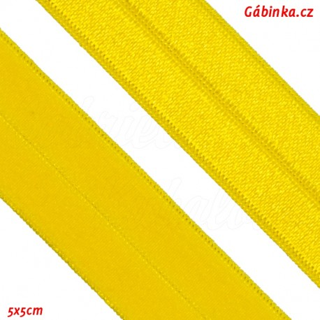 Lemovací guma půlená - 19 mm, žlutá, 5x5 cm