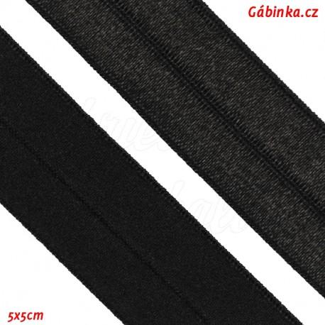 Guma lemovací půlená, 19 mm, černá, 5x5 cm