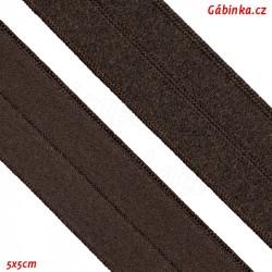 Guma lemovací půlená, 19 mm, tmavě hnědá, 5x5 cm