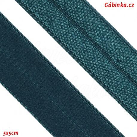 Lemovací guma půlená - 19 mm, tmavě zelená, 5x5 cm