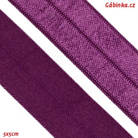Lemovací guma půlená 27 - červeněfialová, 5x5 cm