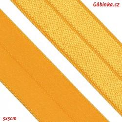 Lemovací guma půlená 22 - vajíčkově žlutá, šíře 19 mm, 1 m