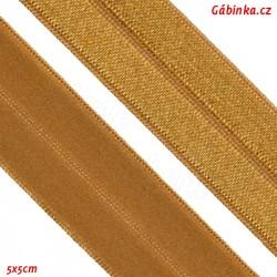 Lemovací guma půlená 19 - tmavě zlatá, šíře 19 mm, 1 m